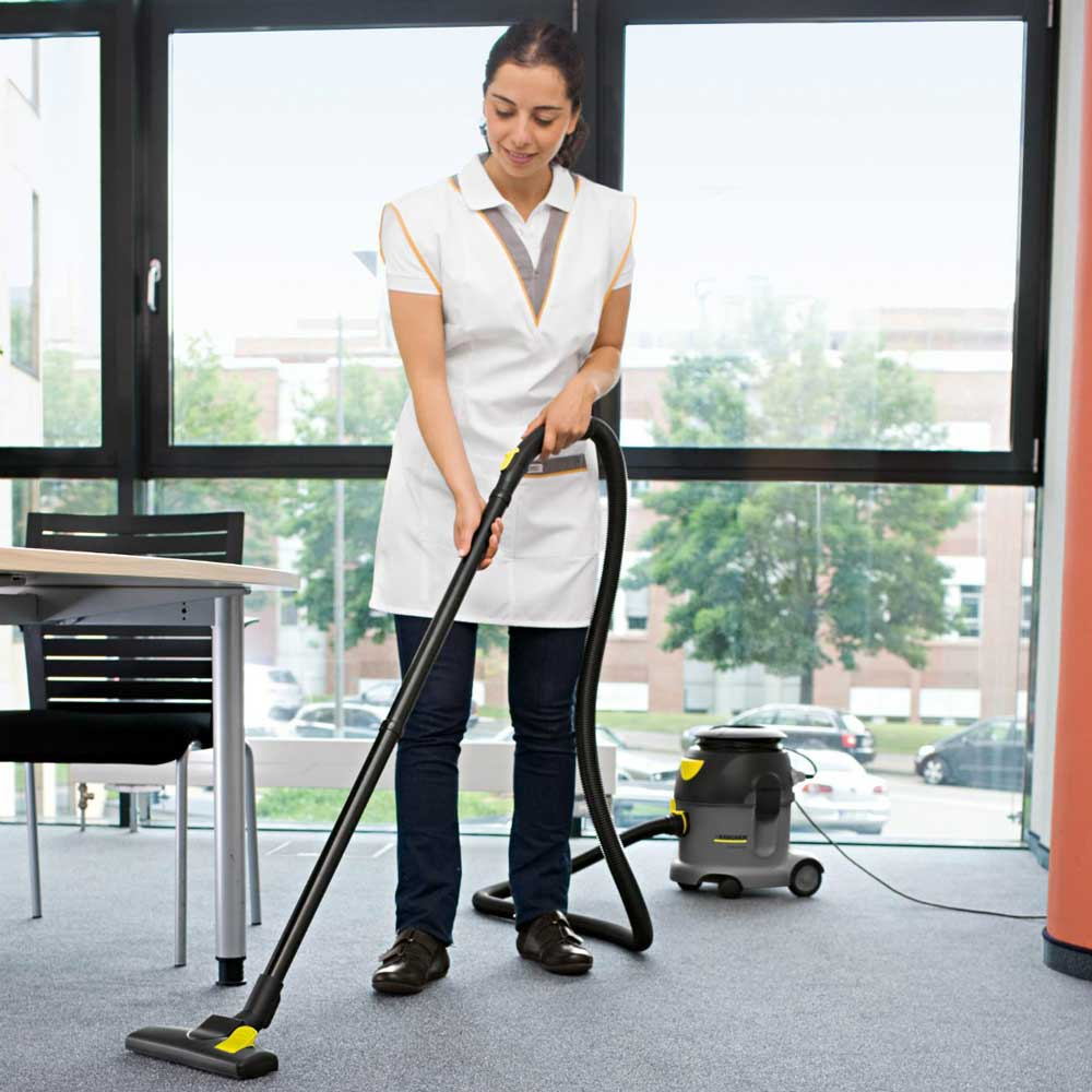 Contract cleaning an office